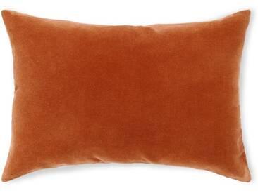Lorna, coussin en velours 35 x 50 cm, orange brûlée