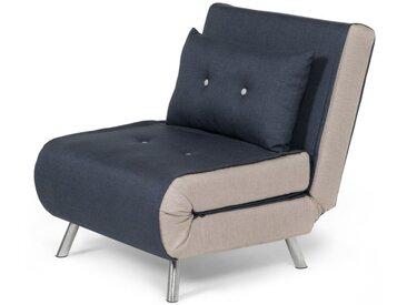 Haru, fauteuil convertible, bleu quartz