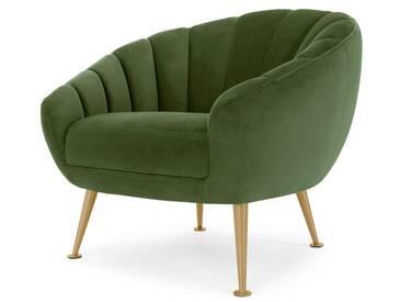 Primrose, fauteuil, velours vert prairie