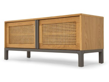 Reema, meuble TV, chêne et gris