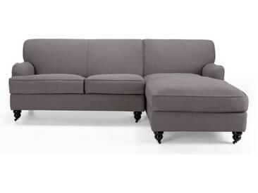 Orson, canapé dangle avec méridienne à droite, gris graphite