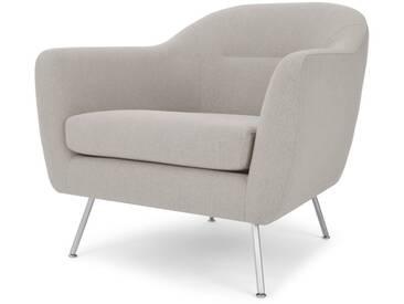 Reece, fauteuil, gris silex et pieds en métal