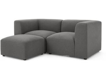 Juno, canapé 2 places avec repose-pieds, gris marne