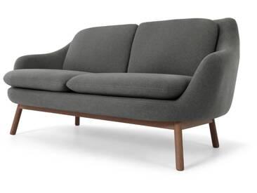 Oslo, canapé 2 places, gris marne et pieds en chêne teinté