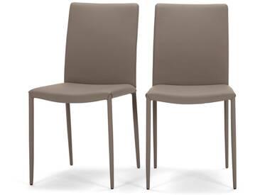 Braga, lot de 2 chaises, argile