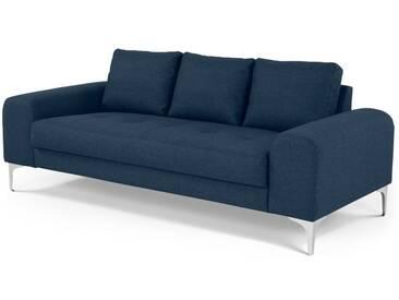 Vittorio, canapé 3 places, bleu cobalt