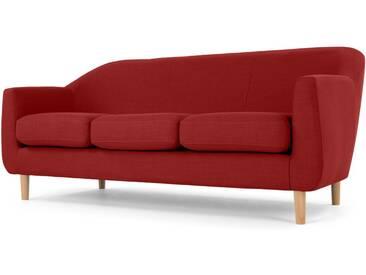 Tubby, canapé 3 places, rouge brillant
