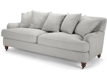 Orson, canapé 3 places avec coussins d'appoint, gris clair