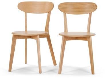 Fjord, lot de 2 chaises, chêne