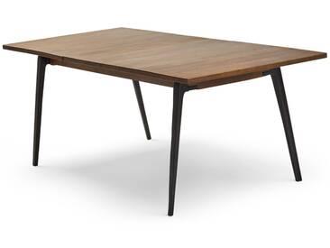 Lucien, table à rallonge, bois de manguier foncé