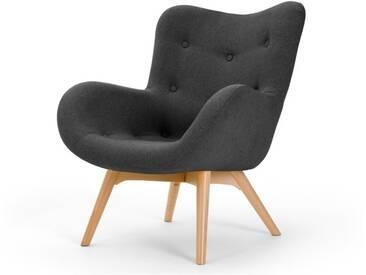 Doris, fauteuil dappoint, gris shetland