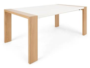 Ethan, table à rallonge, chêne