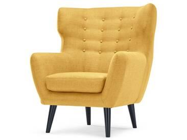 Kubrick, fauteuil bergère, jaune ocre