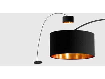 Sweep, lampadaire, noir mat et cuivre