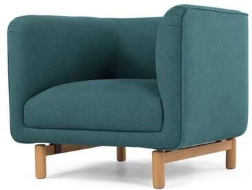 Becca, fauteuil, bleu minéral