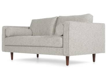Scott, grand canapé 2 places, tissé natté gris