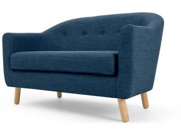 Lottie, canapé 2 places, bleu céruléen