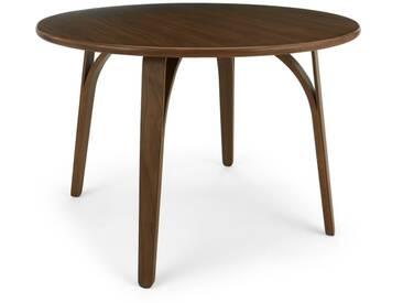 Safia, table ronde, noyer
