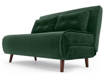 Haru, petit canapé convertible, vert sapin