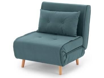 Haru, fauteuil convertible, bleu sorbet