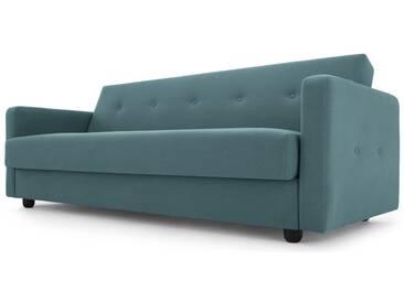 Chou, canapé convertible avec compartiment de rangement, bleu sorbet