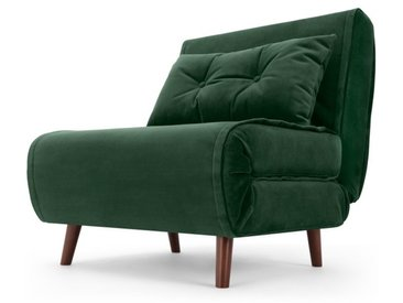 Haru, fauteuil convertible, velours vert sapin