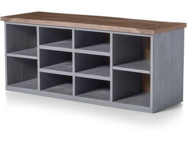 Iona, meuble de rangement pour entrée, pin et fini gris
