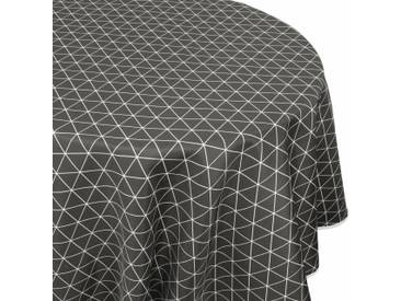 Nappe ovale 180x240 cm imprimée 100% polyester PACO géométrique gris Poivre