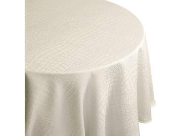 Nappe ovale 180x300 cm Jacquard 100% polyester LOUNGE ecru
