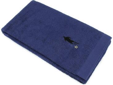 Drap de douche 70x140 cm 100% coton 550 g/m2 PURE FOOTBALL Bleu Marine