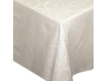 Nappe rectangle 150x350 cm Jacquard 100% coton SPIRALE ecru
