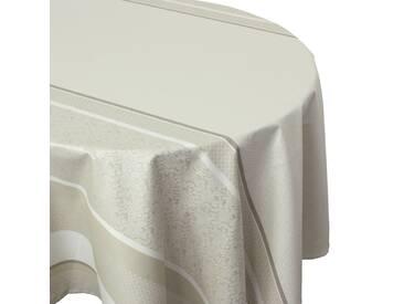 Nappe ovale 170x300 cm Jacquard 100% coton + enduction acrylique EDEN FICELLE Ecru