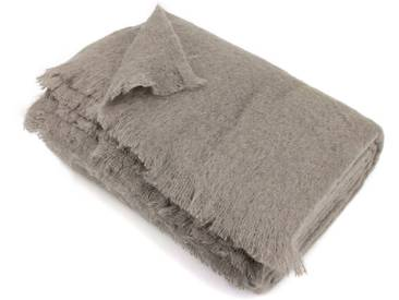 Couverture 230x260 cm Laine Mohair 320g/m² THESEE Marron Taupe