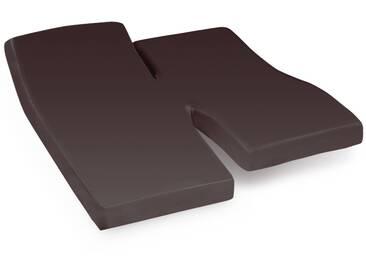 Drap housse relaxation uni 2x80x190 cm 100% coton ALTO Manganese TPR Tête et pied relevable