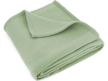 Couverture polaire 180x220 cm Isba Amande 100% Polyester 320 g/m2 traité non-feu