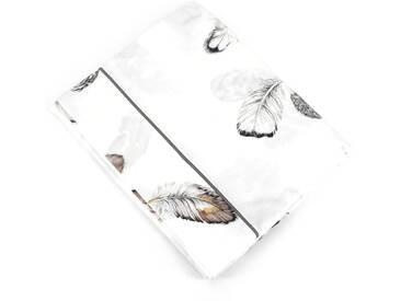 Drap plat 280x325 cm Percale pur coton PLUMES