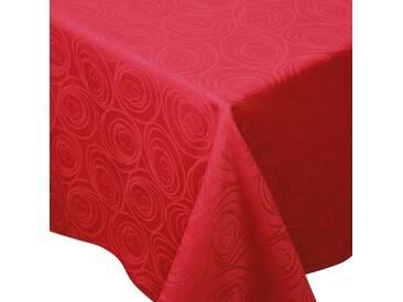 Nappe carrée 175x175 cm Jacquard 100% coton SPIRALE rouge