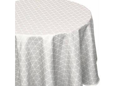 Nappe ovale 180x240 cm imprimée 100% polyester PACO géométrique gris