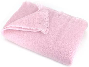 Couverture 180x220 cm Laine Mohair 320g/m² THESEE Rose Poudre