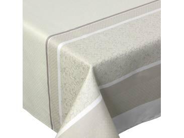 Nappe rectangle 150x250 cm Jacquard 100% coton + enduction acrylique EDEN FICELLE Ecru