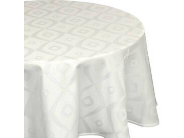 Nappe ronde 180 cm Jacquard 100% polyester BRUNCH ecru