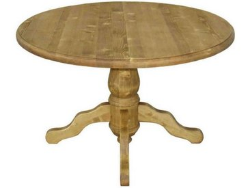 Table repas ronde pin massif pied central 120 cm Transilvania