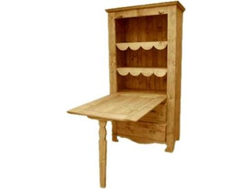 Table de berger 96 cm en pin massif Chamonix 2 tiroirs