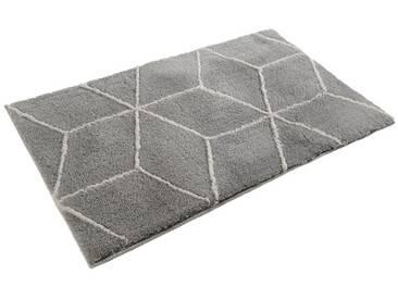 Tapis de Salle de Bain design Polygone Argent par Esprit Home