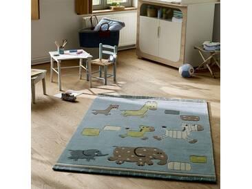 Tapis Enfant Lucky zoo bleu par Esprit Home (grandes tailles)