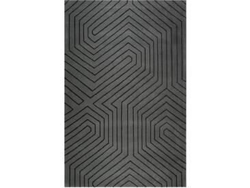 Tapis salon moderne Raban noir par Esprit Home