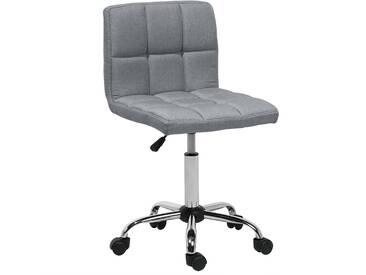 Chaise à roulette en tissu gris MARION