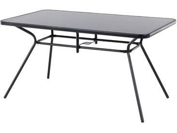 Table de jardin avec plateau 140x80 cm LIVO