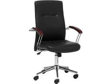 Chaise de bureau en simili cuir noir ELECT