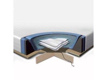Kit complet pour lit à eau 160x200 cm - Matelas à eau - cadre en mousse - housse - 2 x chauffages - podium - conditionneur (2x250ml)